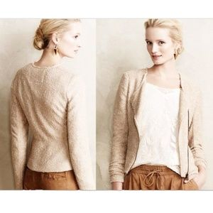 Anthro Cartonnier Shimmered Sweaterknit Jacket S